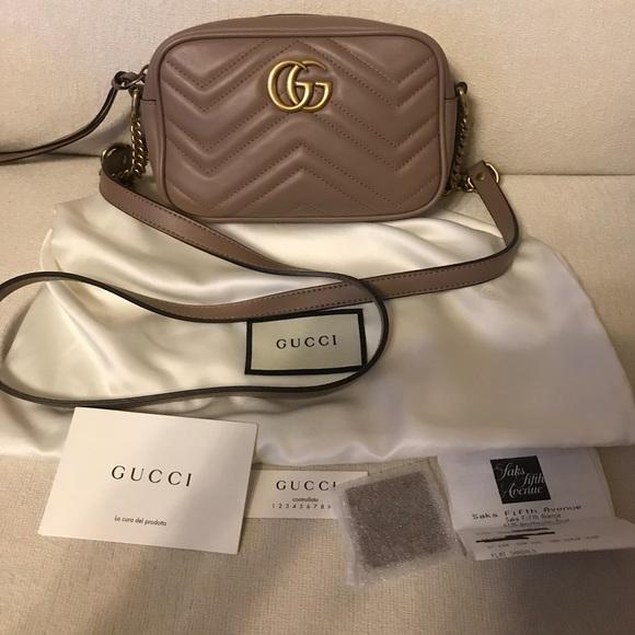 5837ab23dcc Gucci Handbags - Authentic Gucci Marmont Camera Bag